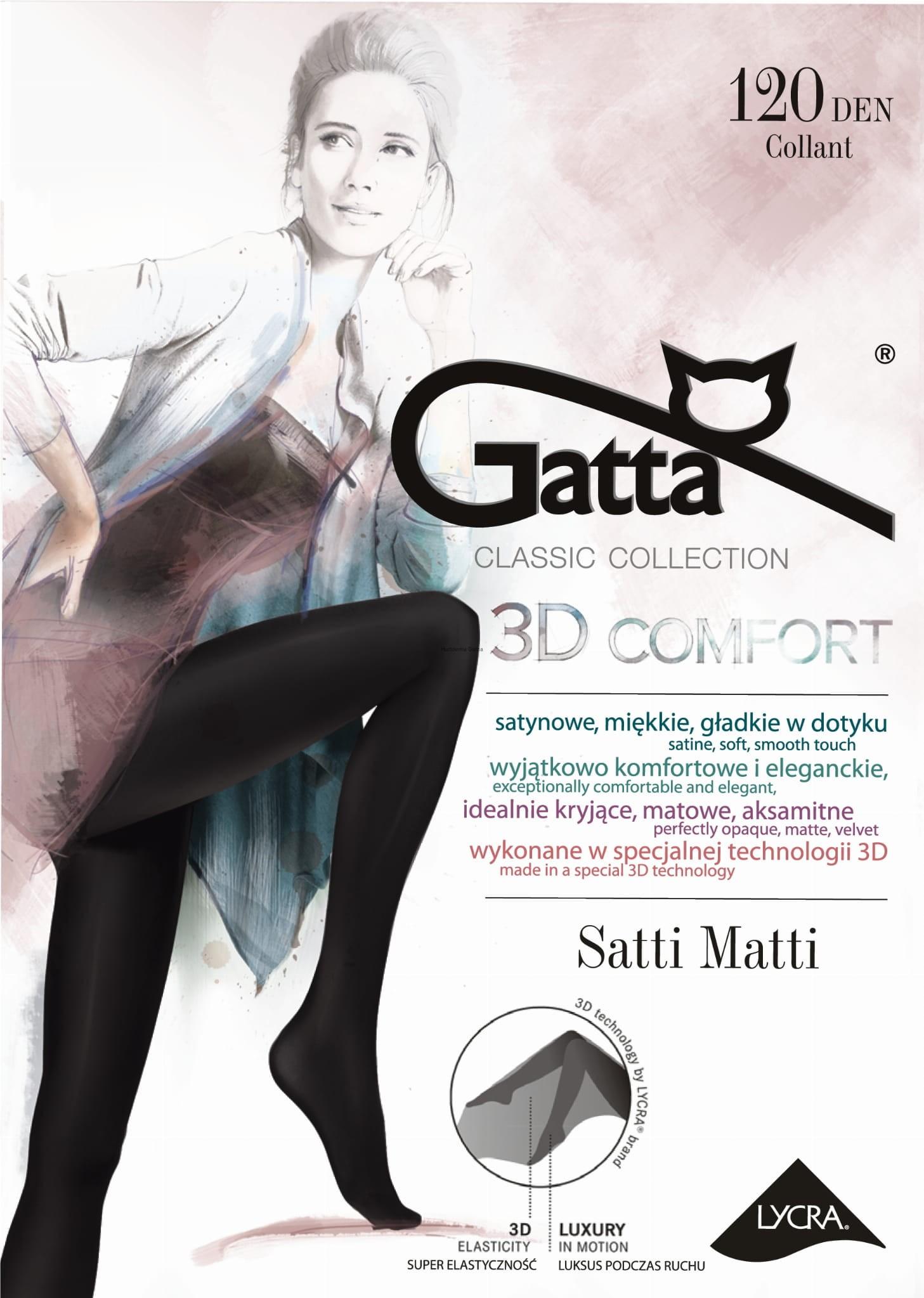 5f7bd862 Rajstopy GATTA SATTI MATTI 120 DEN lycra 3D