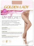 3 BEZSZWOWE Rajstopy SECRET-Golden Lady 20 den