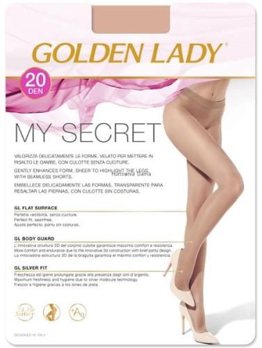 da4a88e049dcb7 3 BEZSZWOWE Rajstopy SECRET-Golden Lady 20 den sklep internetowy ...